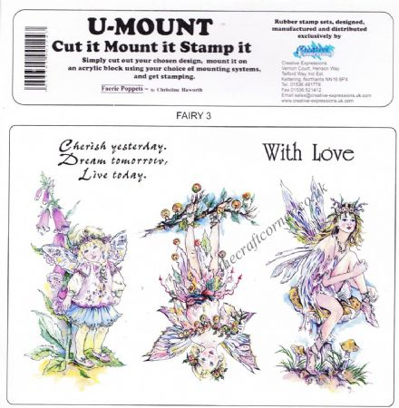Faerie Poppets By Christine Haworth Set 3 Unmounted Rubber Stamps